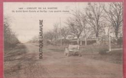 72 - CIRCUIT DE LA SARTHE-Saint Calais --Entre Saint Calais Et Berffay--Les Quatre Routes--automobile - France