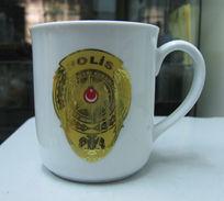 AC -  TURKISH POLICE PORCELAIN CUP - MUG - Tasas