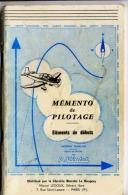 MEMENTO DE PILOTAGE DE P. VIOLET  CHEF-PILOTE INSTRUCT. AERO-CLUB DES CHEMINOT103 PAGES FORMAT 13 X 21 Cm  EDTION 1968 - AeroAirplanes