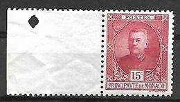 Monaco 1923 - Yv N° 66 ** - Prince Louis II (voir Scan) - Unused Stamps