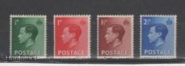(S1716) GREAT BRITAIN, 1936 (Definitives. King Edward VIII ). Complete Set. Mi ## 193-196. MLH* - Nuovi