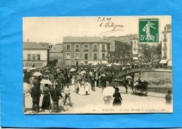 NANTES-pont Morand Le 14 Juillet--Gros Plan Animé--a Voyagé En 1909-édition L L - Nantes