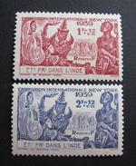 LOT R3586/667 - COLONIES FR. - INDE - 1939 - N°116 à 117 NEUFS * - India (1892-1954)