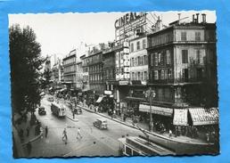 MARSEILLE-Canebière-CINEMA CINEAC-années 40-50-animée-tramways-bar Splendid   -édition La Cigogne - The Canebière, City Centre