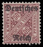 Reich - Francobollo Del 1907/16 Soprastampato / Cifra Contrapposte: 50 P. Bruno - 1919 - Nuovi