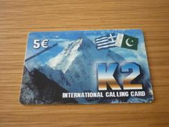 Mountain Greece Prepaid Phonecard - Mountains