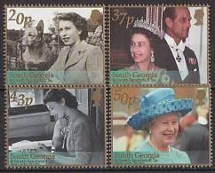 South Georgia 2002 - 50 Ans De Réigne Reine Elisabeth II // Golden Jubilée - 4v Neufs*** (MNH) - Géorgie Du Sud
