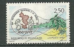 FRANCE Oblitéré 2735 Rattachement De Mayotte à La France - Gebraucht