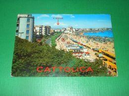 Cartolina Cattolica - Lungomare E Spiaggia 1974 - Rimini