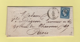 Pancey - 50 - Haute Marne - Pc 2374 - 15 Mars 1860 - Marcophilie (Lettres)