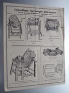 Tonnellerie Mécanique Ardennaise Grande Spécialité De Barattes Et Machines à Laver - Anno 19?? ( Zie Foto ) ! - Publicités