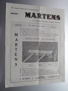 Theo MARTENS-LIBENS Landbouwmachienen Machines Agricoles - Meeuwerkiezel GERDINGEN/BREE - Anno 19?? ( Zie Foto ) ! - Pubblicitari