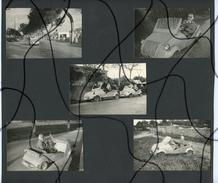 5 PHOTOS ANIMÉES A Identifiées . Ancienne Voiture Prototype ?  PEUT ETRE UNE 2CV ?? Immatriculation PM 18563 - Automobiles