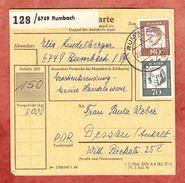 Paketkartenteil, MiF Bedeutende Deutsche, Rumbach Nach Dessau 1964 (38530) - [7] República Federal