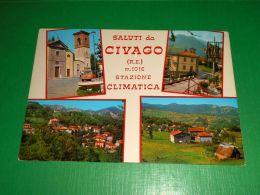 Cartolina Saluti Da Civago - Vedute Diverse 1970 Ca - Reggio Nell'Emilia