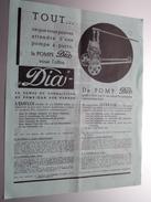 Ateliers Des Pompes DIA Tél 170.09 Liège - Anno 19?? ( 4 Pag. / Zie Foto ) ! - Publicités