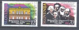 Slovenia Slowenien Slowenie 1994 Mint MNH **;  200 Years Ljubljana Philharmonic Society Beethoven Brahms Haydn Paganini - Musik