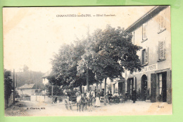 CHARAVINES - Hôtel LAMBERT- Superbe Plan Animé -  Ed. Charton - En L' état - 2 Scans - Charavines