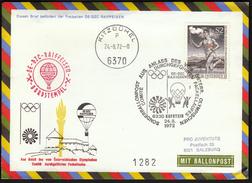 Austria Kufstein - Kitzbuhel 1972 / Torch Relay To The Olympic Games In Munich / Balloon / Cancel No 2 - Sommer 1972: München