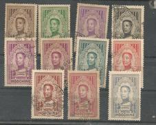 182/192    Roi  MONIVONG  Seul Le 15c N'est Pas Oblitéré    (clasbla) - Indochina (1889-1945)
