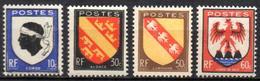 France - YT 755 à 758 - Armoiries De Province (III) NEUF AVEC TRACE DE CHARNIERE - France