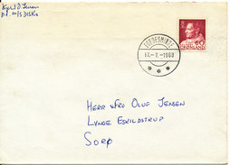 Greenland Cover Sent To Denmark Egedesminde 17-7-1968 Single Franked - Lettres & Documents