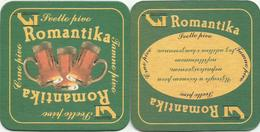 ROMANTIKA Svetlo Pivo Beer Coaster From Mini Brewery Zelturist Romantika  Serbia - Bierviltjes