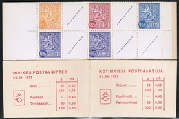 1973 Finland, Slot Machine Booklet Facit HA 5 I  N ** (0,60). - Finland