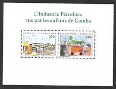 Gabon 2008 Petrol Oil Shell Biodiversity Children Designs MS Mint - Gabon (1960-...)