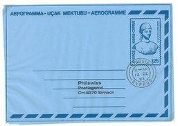 Zypern, Aerogramm Nach Der Schweiz 1983 - Zypern (Republik)