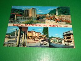 Cartolina Saluti Da Castelnovo Ne' Monti ( Reggio Emilia ) - Vedute Diverse 1974 - Reggio Nell'Emilia