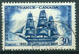 BM Frankreich 1955 | MiNr 1061 | Used | Korvette Capricieuse, Fahrt Von Frankreich Nach Kanada - France