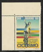 1995 SAN MARINO FRANCOBOLLO NUOVO STAMP NEW MNH** - SPORT CAMPIONATO MONDIALE JUNIORES CICLISMO100 Lire - - San Marino