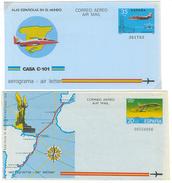 Spanien, 2 Aerogramme **, 35 PTA Und 20 PTA - Luftpost