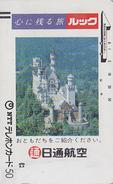 Télécarte Ancienne Japon  / 110-011 - CHATEAU NEUSCHWANSTEIN - CASTLE GERMANY Japan Front Bar Phonecard - Site 53 - Japan