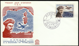 Monaco 1963 / 50th Anniversary Of The Flight Crossing Of The Mediterranean By Rolland Garros / FDC - Avions