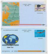 Spanien, 2 Aerogramme **, 22 PTA Und 20 PTA - Luftpost