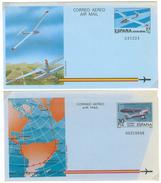 Spanien, 2 Aerogramme **, 27 PTA Und 30 PTA - Luftpost