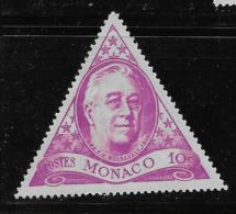 MONACO, 1946 USED  SCOTT #198, FRANKLIN ROOSEVELT - Oblitérés