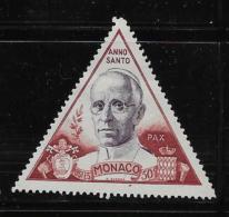 MONACO, 1951 USED  SCOTT # 263,  PAUL PIUS X11    USED - Monaco
