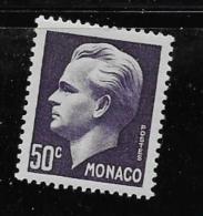 MONACO, 1950   SCOTT # 253,  PRINCE RAINIER 111 MNH - Monaco