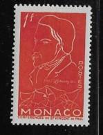 MONACO, 1954   SCOTT # 306,  FREDERIC OZANAM FOUNDER Of The SOCIETY Of ST VINCENT DE PAUL - Monaco