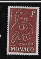 MONACO, 1954   SCOTT # 309,  JEAN-BAPTISTE De La SALLE FOUNDER Of The CHRISTIAN BROTHERS  INSTITUT - Monaco