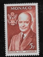 MONACO, 1956   SCOTT # 357, DWIGHT D. EISENHOWER  MNH - Monaco