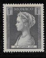 MONACO, 1957   SCOTT # 391, PRINCESS GRACE       MNH - Monaco