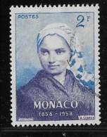 MONACO, 19586   SCOTT # 413  BERNADETTE SOUBIROUS.   USED - Monaco