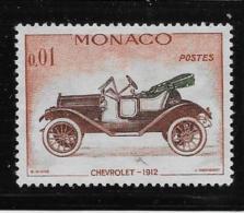 MONACO, 1961   SCOTT # 485   AUTOMOBILES: CHEVROLET 1912 USED - Monaco