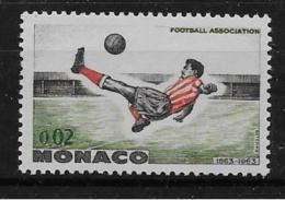 MONACO, 1963   SCOTT # 554, OVERHEAD KICK, FOOTBALL  MNH - Monaco