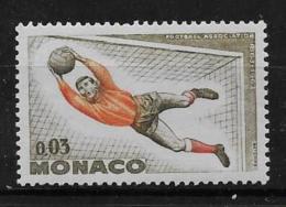 MONACO, 1963   SCOTT # 555,  GOALKEEPER  FOOTBALL  MNH - Monaco