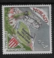 MONACO, 1963   SCOTT # 556,  LOUIS 11 STADIUM,  MONACO EMBLEM,  FOOTBALL  MNH - Monaco